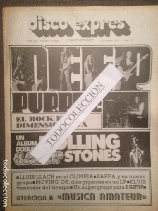 DISCO EXPRES 208 (26-01-73): DEEP PURPLE, ROLLING STONES, E.PRESLEY.J.MAYALL,BRAVOS,LLACH,CLAPTON (Música - Revistas, Manuales y Cursos)