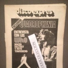Revistas de música: DISCO EXPRES 277 (31-05-74): WHO, QUADROPHENIA,BILLY PRESTON,AGUAVIVA,CHARLIE WATTS, BOWIE. Lote 111117763