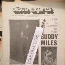Revistas de música: DISCO EXPRES 128 (25-06-71):MASSIEL,BRIAN AUGER,VAINICA DOBLE,TARA,PROCOL HARUM,BUDDY MILES,J.MATEY. Lote 111339571