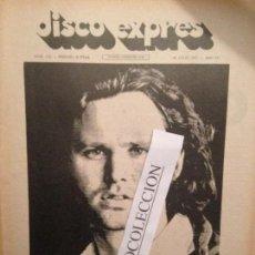 Revistas de música: DISCO EXPRES 132 (30-07-71): FALLECE JIM MORRISON,OM, JARKA,SIMON & GARFUNKEL,VICTOR MANUEL,PRESLEY. Lote 175409567
