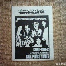 Revistas de música: DISCO EXPRES. Nº 343. 1975.. Lote 111493383