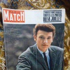 Revistas de música: JOHNNY HALLYDAY PORTADA PARIS-MATCH -1962 -. Lote 111830811