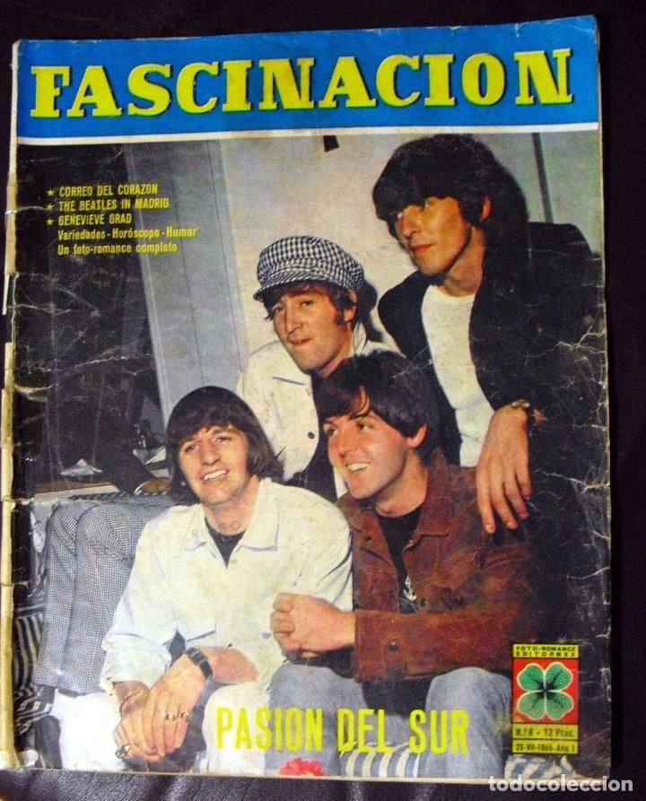 LOS BEATLES: REVISTA FASCINACION-JULIO 1965-MADRID PLAZA LAS VENTAS-MUY RARA DE VER...... (Música - Revistas, Manuales y Cursos)