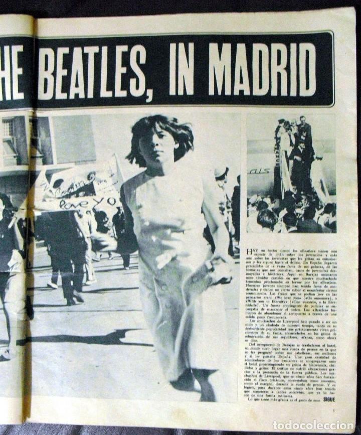 Revistas de música: LOS BEATLES: REVISTA FASCINACION-JULIO 1965-MADRID PLAZA LAS VENTAS-MUY RARA DE VER...... - Foto 4 - 111846195