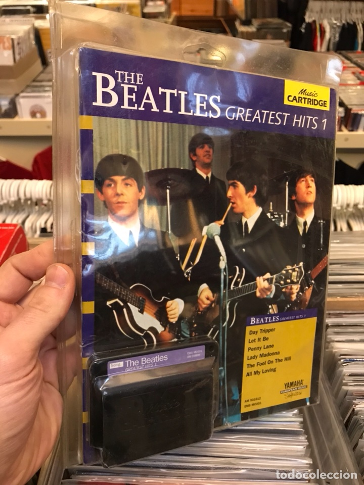 THE BEATLES GREATEST HITS 1 MUSIC CARTRIDGE YAMAHA RARO CARTUCHO (Música - Revistas, Manuales y Cursos)