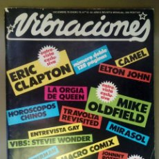 Revistas de música: VIBRACIONES Nº 51-52, DIC 78-ENE 79. ERIC CLAPTON, QUEEN, YES, TRIANA,DEEP PURPLE,MIKE OLDFIED,CAMEL. Lote 112364203