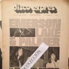 Revistas de música: DISCO EXPRES 141 (01-10-71): EMERSON LAKE PALMER, HENDRIX,STONES,SMASH,MI GENERACION,LENNON IMAGINE. Lote 112520555