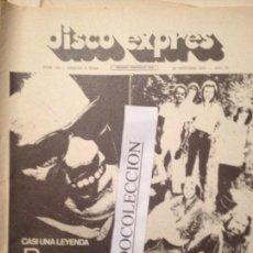 Revistas de música: DISCO EXPRES 145 (29-10-71):R.CHARLES, POP TOPS,JEFFERSON AIRPLANE,SOFT MACHINE,MASSIEL,AGUA VIVA,. Lote 112521895