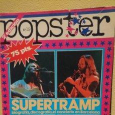 Revistas de música: POPSTER NÚMERO 19 SUPERTRAMP. Lote 112740831