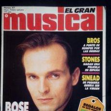 Revistas de música: EL GRAN MUSICAL Nº 317, MAYO 1990. MIGUEL BOSÉ, BROS, DEPECHE MODE,RADIO FUTURA,REY LUI,TECHNOTRONIC. Lote 113246235