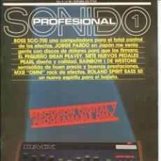 Magazines de musique: SONIDO PROFESIONAL 1 - Nº 46. Lote 113663943