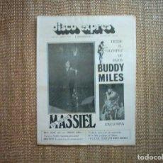 Revistas de música: DISCO EXPRES. Nº 128. 1971. BRIAN AUGER-IKE Y TINA-PROCOL HARUM-TARA-JORGE MATEY.. Lote 114006935