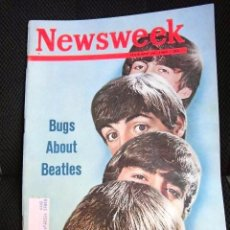 Revistas de música: BEATLES REVISTA NEWSWEEK ORIGINAL FEBRERO 1964 NUEVA PORTADA Y ARTICULO LLEGADA A USA MEMORABILIA . Lote 114239719