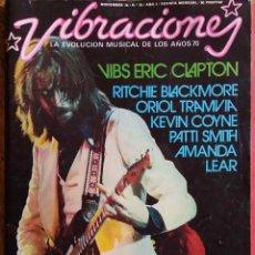 Revistas de música: VIBRACIONES. Nº 26. NOV 1976. CLAPTON. BLACKMORE. PATTI SMITH... REVISTA. Lote 114244855