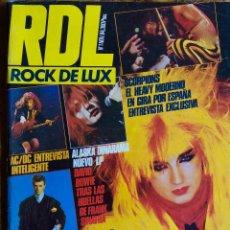 Revistas de música: ROCK DE LUX Nº 1 NOVIEMBRE 1984. ALASKA, DAVID BOWIE SCORPIONS... REVISTA RDL. Lote 114322755