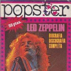 Revistas de música: REVISTA POPSTER LED ZEPPELIN. Lote 114778331