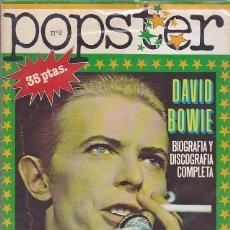 Revistas de música - REVISTA POPSTER DAVID BOWIE - 114778519
