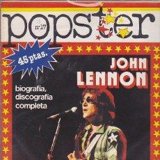 Revistas de música: REVISTA POPSTER JOHN LENNON. Lote 114779211