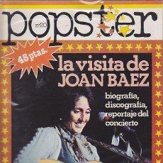 Revistas de música: REVISTA POPSTER JOAN BAEZ. Lote 114779319