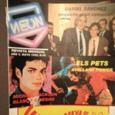 Revistas de música: NEON: NUM 49 MAY 1992. MICHAEL JACKSON,ELS PETS,LOS DEL TONOS,SPRINGSTEEN,KETAMA. Lote 115016771