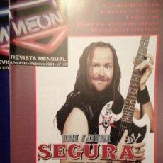 Revistas de música: NEON: NUM 187 FEB 2004 SANTIAGO SEGURA,ISI-DISI,SIDONIE,LA LEY DE QUECO,LOS SUAVES.ARI,. Lote 115018223