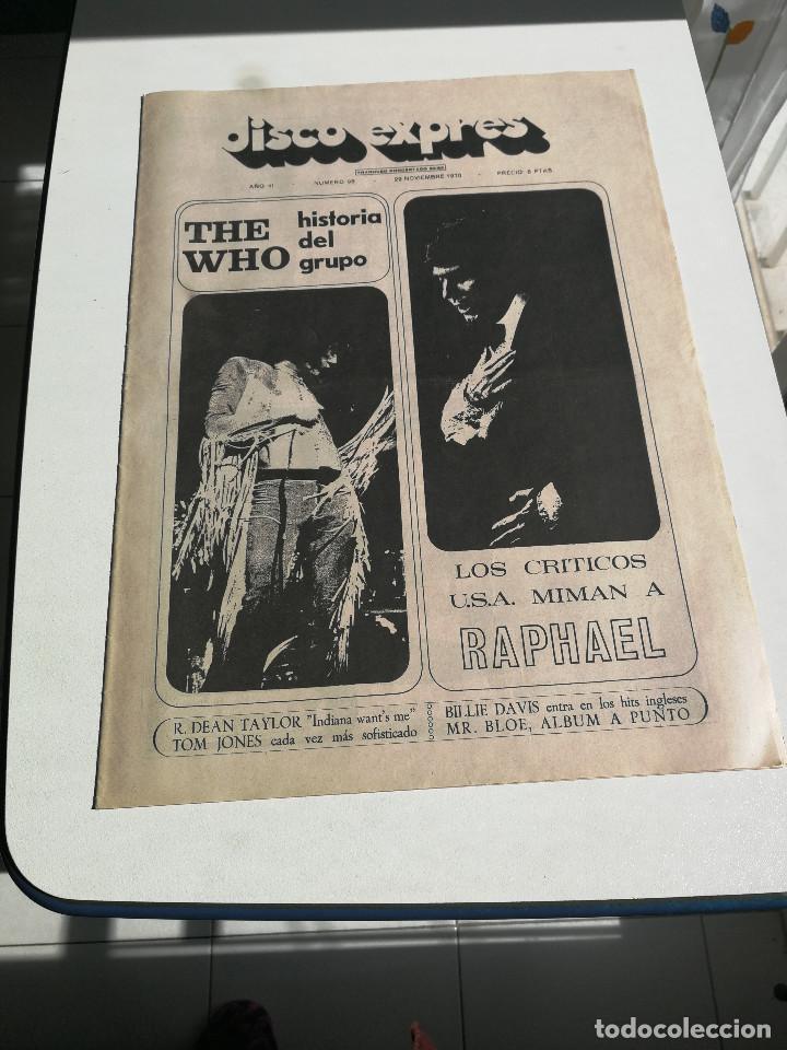 REVISTA ' DISCO EXPRES ' Nº 98 - NOVIEMBRE 1970 // PORTADA ' THE WHO Y RAPHAEL ' (Música - Revistas, Manuales y Cursos)