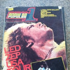 Revistas de música: REVISTA POPULAR 1 -- Nº 51 -- LED ZEPPELIN USA TOUR 1977 -- CON POSTER -- 1977 --. Lote 115276047