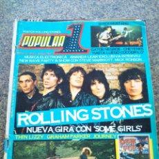 Revistas de música: REVISTA POPULAR 1 -- Nº 61 -- ROLLING STONES NUEVA GIRA -- SIN POSTER -- 1978 --. Lote 115276191
