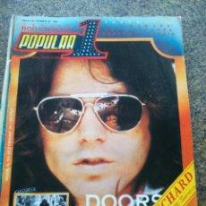 Revistas de música: REVISTA POPULAR 1 -- Nº 68 -- THE DOORS / KEITH RICAHARD -- SIN POSTER -- 1979 --. Lote 115276315