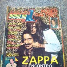 Revistas de música: REVISTA POPULAR 1 -- Nº 70 -- ZAPPA / ROGER DALTREY / ETC -- SIN POSTER -- 1979 --. Lote 115276411