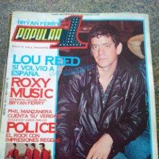 Revistas de música: REVISTA POPULAR 1 -- Nº 77 -- LOU REDD / ROXY MUSIC / POLICE -- CON POSTER -- 1979 --. Lote 115276707