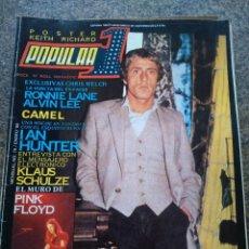 Revistas de música: REVISTA POPULAR 1 -- Nº 79 -- ROGER DALTREY / IAN HUNTER / PINK FLOYD -- SIN POSTER --. Lote 115276867