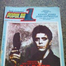 Revistas de música: REVISTA POPULAR 1 -- Nº 72 -- LOU REED / PATTI SMITH / THE WHO -- SIN POSTER -- 1979 --. Lote 115277975
