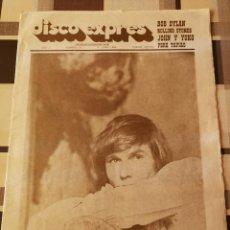 Revistas de música: REVISTA ' DISCO EXPRES ' Nº 27 - JUNIO1969 // PORTADA ' ARTICULOS BOB DYLAN, ROLLING, JOHN Y YOKO '. Lote 115410635