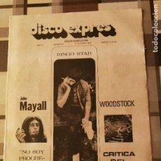Revistas de música: REVISTA ' DISCO EXPRES ' Nº 91 - OCTUBRE 1970 //PORTADA ' RINGO STAR, JOHN MAYALL '. Lote 115412387