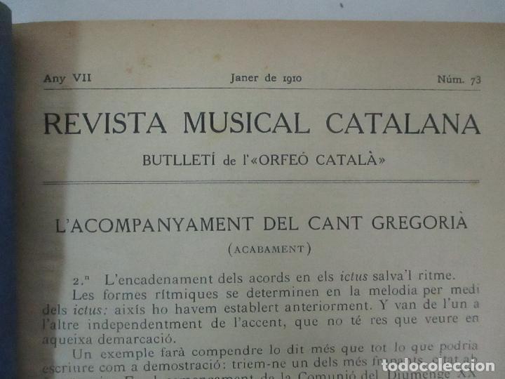 Revistas de música: Revista Musical Catalana - 12 nº- Bulleti Mensual del Orfeó Català - con Fotos - Any VII - Any 1910 - Foto 3 - 115646655