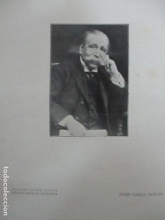 Revistas de música: Revista Musical Catalana - 12 nº- Bulleti Mensual del Orfeó Català - con Fotos - Any VII - Any 1910 - Foto 4 - 115646655