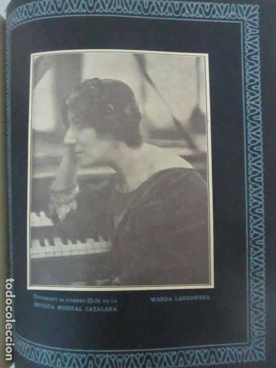 Revistas de música: Revista Musical Catalana - 12 nº- Bulleti Mensual del Orfeó Català - con Fotos - Any VII - Any 1910 - Foto 7 - 115646655