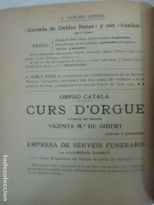 Revistas de música: Revista Musical Catalana - 12 nº- Bulleti Mensual del Orfeó Català - con Fotos - Any VII - Any 1910 - Foto 11 - 115646655