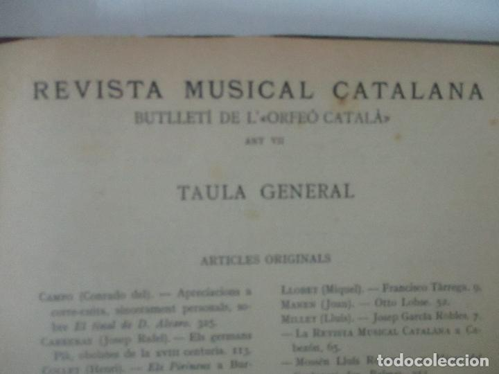 Revistas de música: Revista Musical Catalana - 12 nº- Bulleti Mensual del Orfeó Català - con Fotos - Any VII - Any 1910 - Foto 12 - 115646655