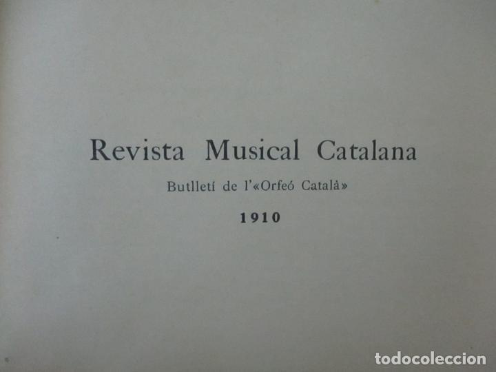 Revistas de música: Revista Musical Catalana - 12 nº- Bulleti Mensual del Orfeó Català - con Fotos - Any VII - Any 1910 - Foto 13 - 115646655
