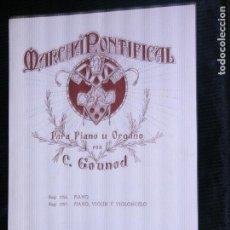 Revistas de música: F1 PARTITURA MARCHA POTENCIAL PARA PIANO U ORGANO POR C.GOUNOD . Lote 116200931