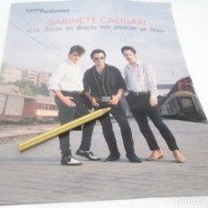 Revistas de música: RECORTE ANTIGUO DEL CONJUNTO GABINETE CALIGARI AÑO 80. Lote 116274171