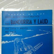Revistas de música: LIBRO DE MÚSICA. BANDURRIA Y LAÚD. GASPAR DE LUZ 1977 NUEVO A ESTRENAR. Lote 116723420