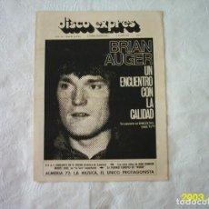 Revistas de música: DISCO EXPRES. Nº 184. 1972. SIN POSTER. . Lote 117363371