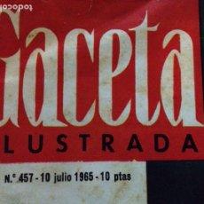 Revistas de música: BEATLES - REVISTA GACETA ILUSTRADA NUM. 457. Lote 117483494