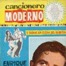 Revistas de música: CANCIONERO MODERNO Nº 1, ENRIQUE GUZMÁN, AÑO 1964. Lote 117933591