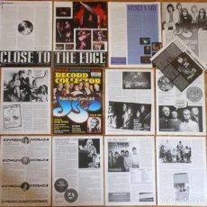 Revistas de música: YES LOTE PRENSA 1990S/00S UK CLIPPINGS PHOTOS MAGAZINE ARTICLES PROGRESSIVE ROCK. Lote 118261847