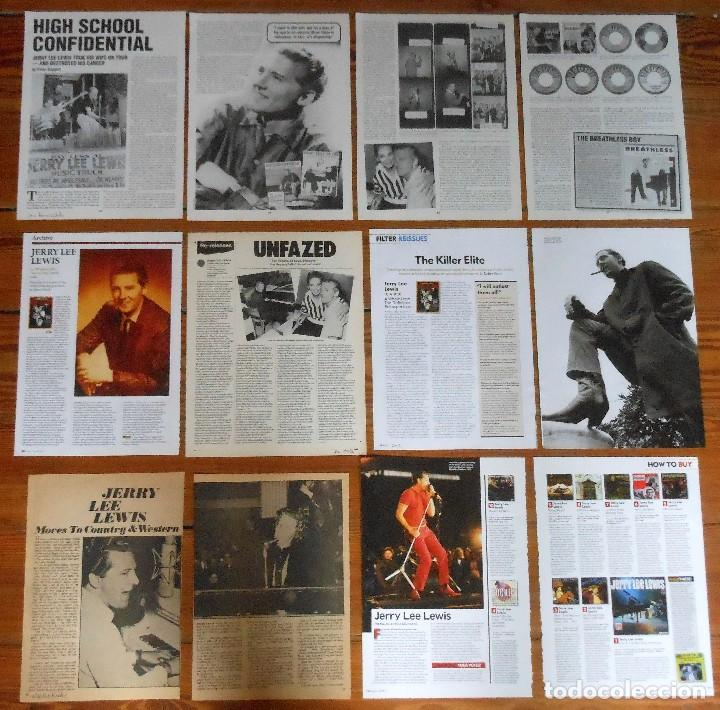 JERRY LEE LEWIS lote prensa clippings 1960s/00s photos Rock'n'Roll vintage  magazine articles