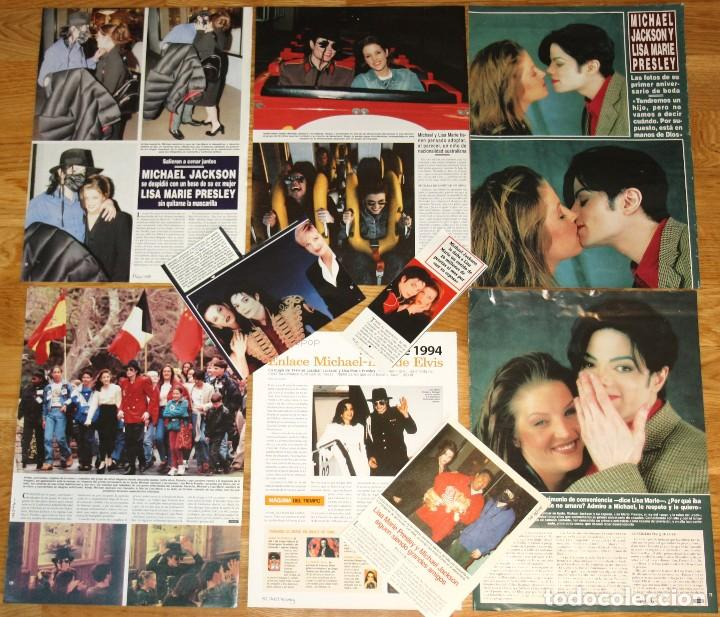 MICHAEL JACKSON & LISA MARIE PRESLEY LOTE PRENSA SPAIN CLIPPINGS 1990S RARE PHOTOS MAGAZINE (Música - Revistas, Manuales y Cursos)